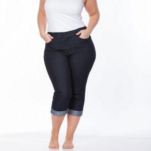 Merona denim capri crop blue jeans plus size 18